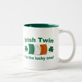 Lucky Irish Twin Two-Tone Coffee Mug