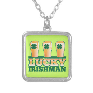 LUCKY IRISHMAN from The Beer Shop Silver Plated Necklace