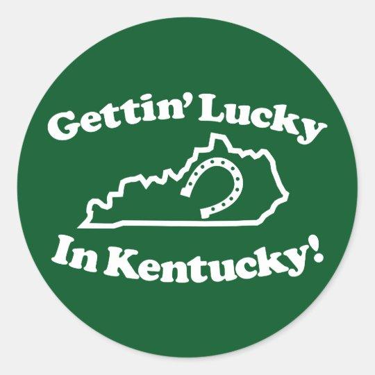 Lucky Kentucky Classic Round Sticker