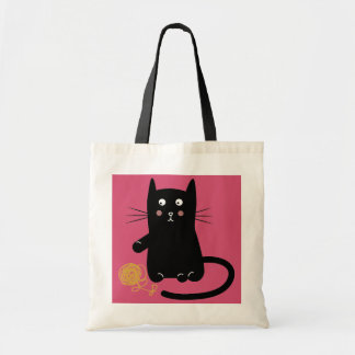 Lucky Kitty Cat Tote Bag