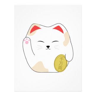Lucky Kitty Letterhead Design