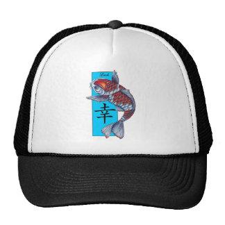 Lucky Kohaku Koi Fish Trucker Hats