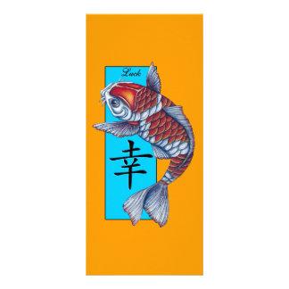 Lucky Kohaku Koi Fish Rack Card