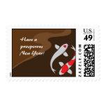 Lucky Koi Holiday Christmas New Year Stamp