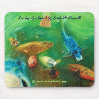 Lucky Koi Pond: www.AriesArtist.com Mouse Pad