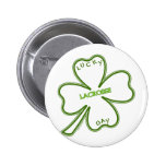 Lucky Lacrosse Day Pinback Buttons
