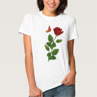 Lucky lady bug , Red Rose shirt