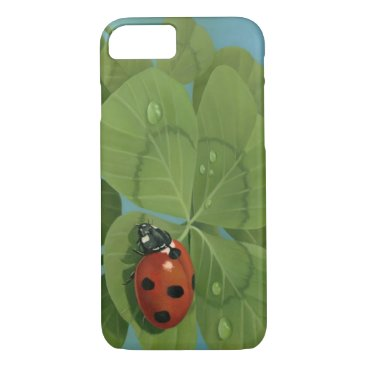 """""""Lucky Lady"""" Ladybug and 4-leaf clover iPhone case"""