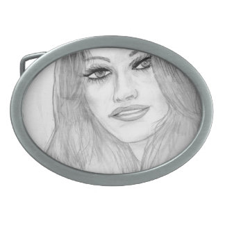 Lucky Lady Oval Belt Buckle