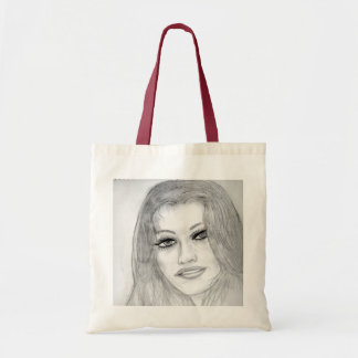 Lucky Lady with Red Border Budget Tote Bag