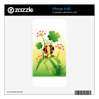Lucky Ladybird Decal For iPhone 4