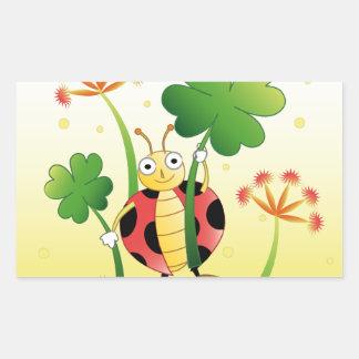Lucky Ladybird Rectangular Sticker