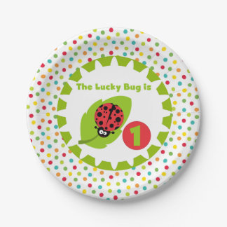 Lucky Ladybug 1st Birthday Paper Plates