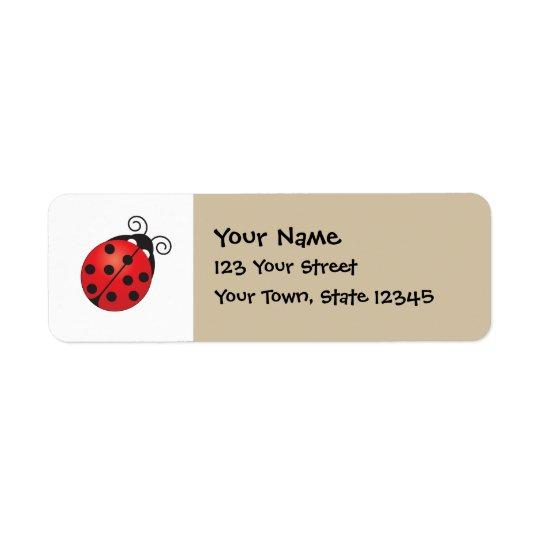 Lucky Ladybug Label
