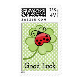 Lucky Ladybug Ladybird Irish 4 Leaf Clover Postage