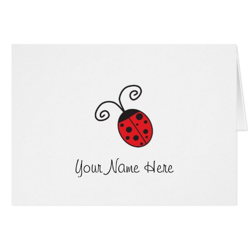 Lucky Ladybug Notes Greeting Cards