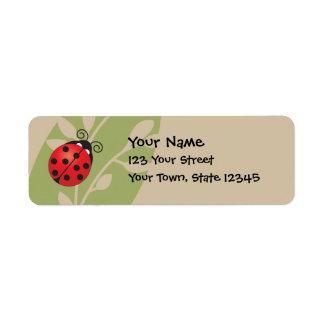 Lucky Ladybug Return Address Labels