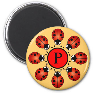 Lucky Ladybugs Circle of Eight Ladybirds Initial Magnet