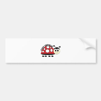 Lucky Ladybut Bumper Sticker