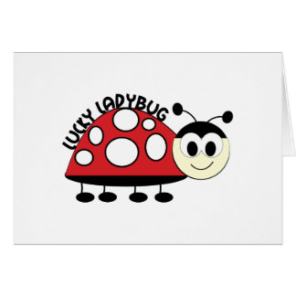 Lucky Ladybut Greeting Card