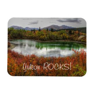 Lucky Lake; Yukon Territory Souvenir Rectangular Photo Magnet