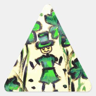 Lucky Land Triangle Sticker