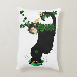 Lucky Le Chat Noir - St Patrick's Day Accent Pillow