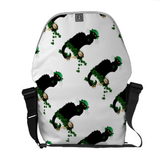 Lucky Le Chat Noir - St Patrick's Day Messenger Bags