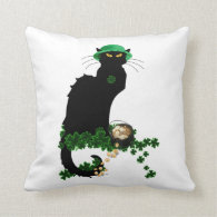 Lucky Le Chat Noir - St Patrick's Day Pillows