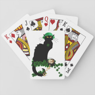 Lucky Le Chat Noir - St Patrick's Day Playing Cards