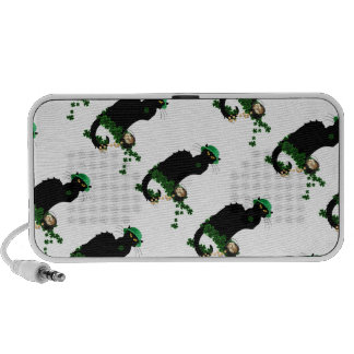 Lucky Le Chat Noir - St Patrick's Day iPhone Speakers