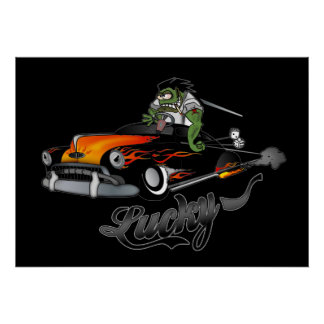 """""""Lucky"""" Lead Sled Art Poster"""