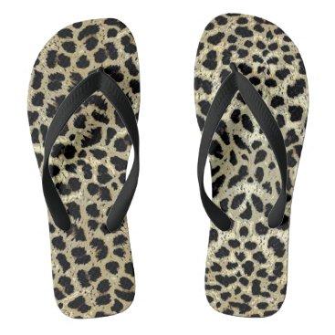 Beach Themed Lucky Leopard Flip Flops