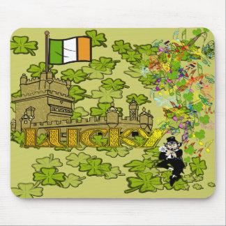 Lucky Leprechaun and His Irish Castle Mouse Pad