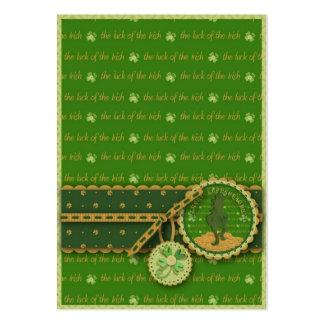 Lucky Leprechaun Gift Tag Business Card Template