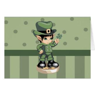 Lucky Leprechaun Greeting Card