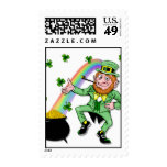 Lucky Leprechaun Postage Stamps