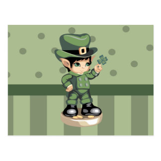 Lucky Leprechaun Postcard