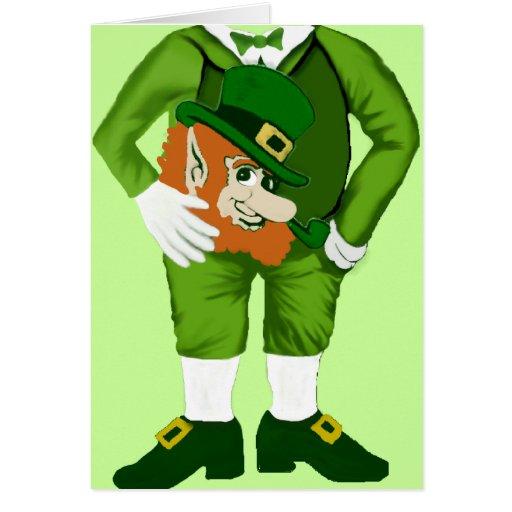 Lucky Leprechaun Suit Greeting Card