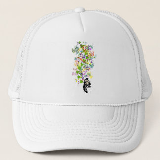 Lucky Leprechaun With Shamrocks Trucker Hat