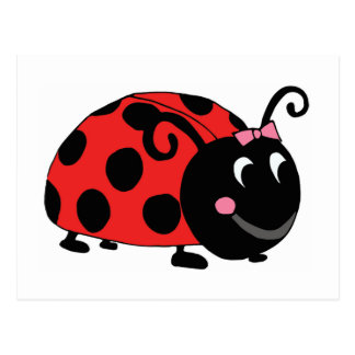 Lucky Little Ladybug Postcard