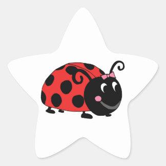 Lucky Little Ladybug Star Sticker