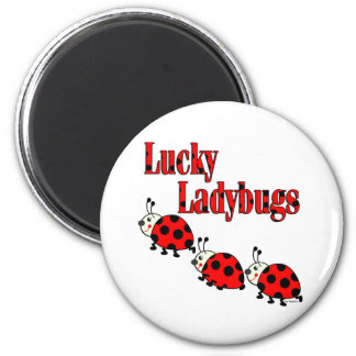 Lucky Little Ladybugs Magnet