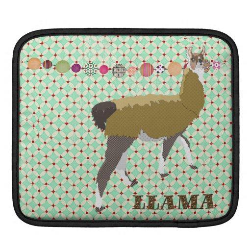 Lucky Llama Vintage iPad Sleeve