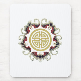 Lucky Longevity Chinese Charm Mouse Pad