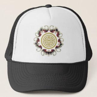 Lucky Longevity Chinese Charm Trucker Hat