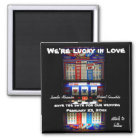 Lucky Love Casino Slot Machine Save the Date Magnet
