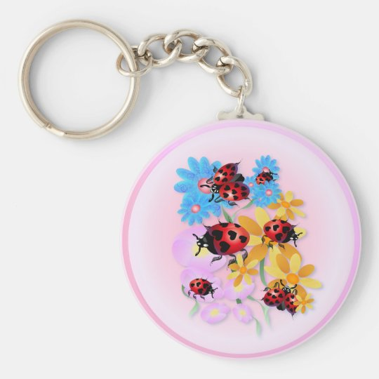 Lucky-Love Ladybugs Keychain