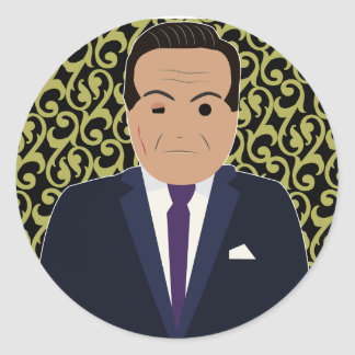 Lucky luciano (Simple History) Classic Round Sticker
