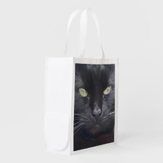 Lucky Lucy Black Cat Photo Image Reusable Bag